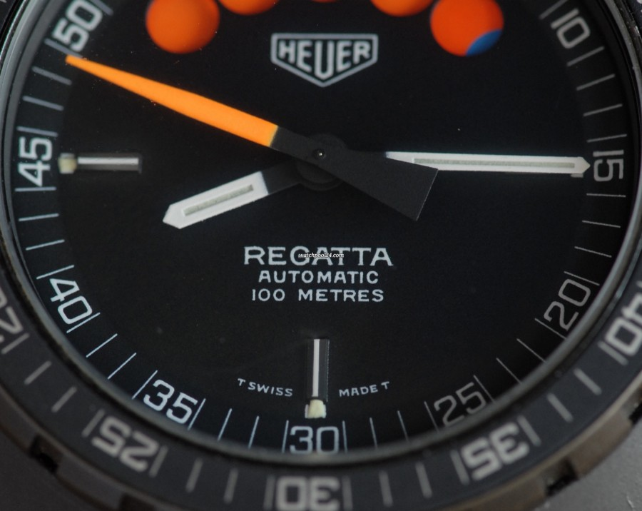 Heuer Regatta Yacht Timer 134.601 Black PVD