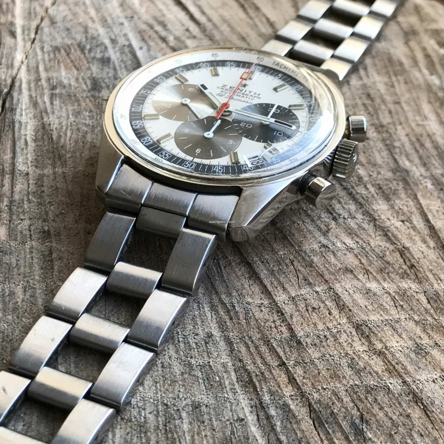 Zenith El Primero A386 - scratch on the watchglass