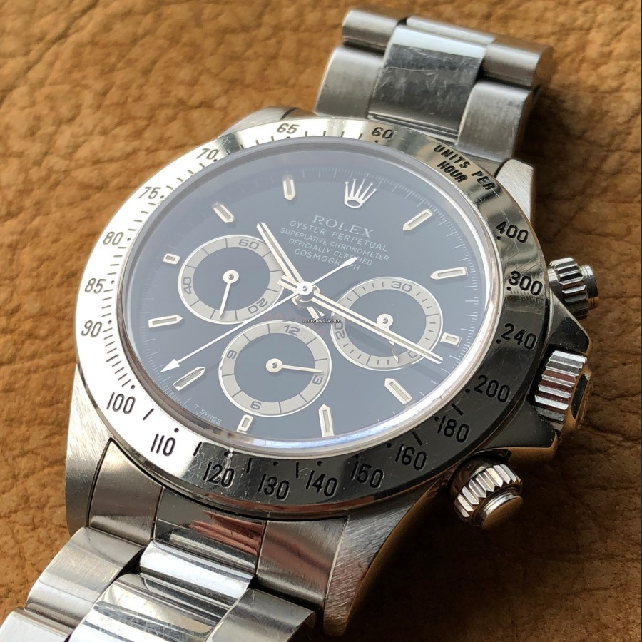 Rolex Daytona 16520 - Zenith Daytona - bezel with Tachymeter scale - 400 UNITS PER HOUR