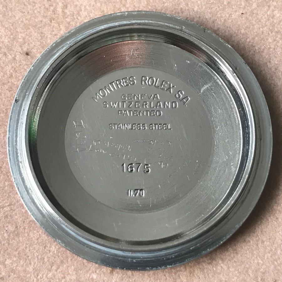 Rolex GMT Master 1675/3 Nipple Dial - graviert zwetes Quartal 1970