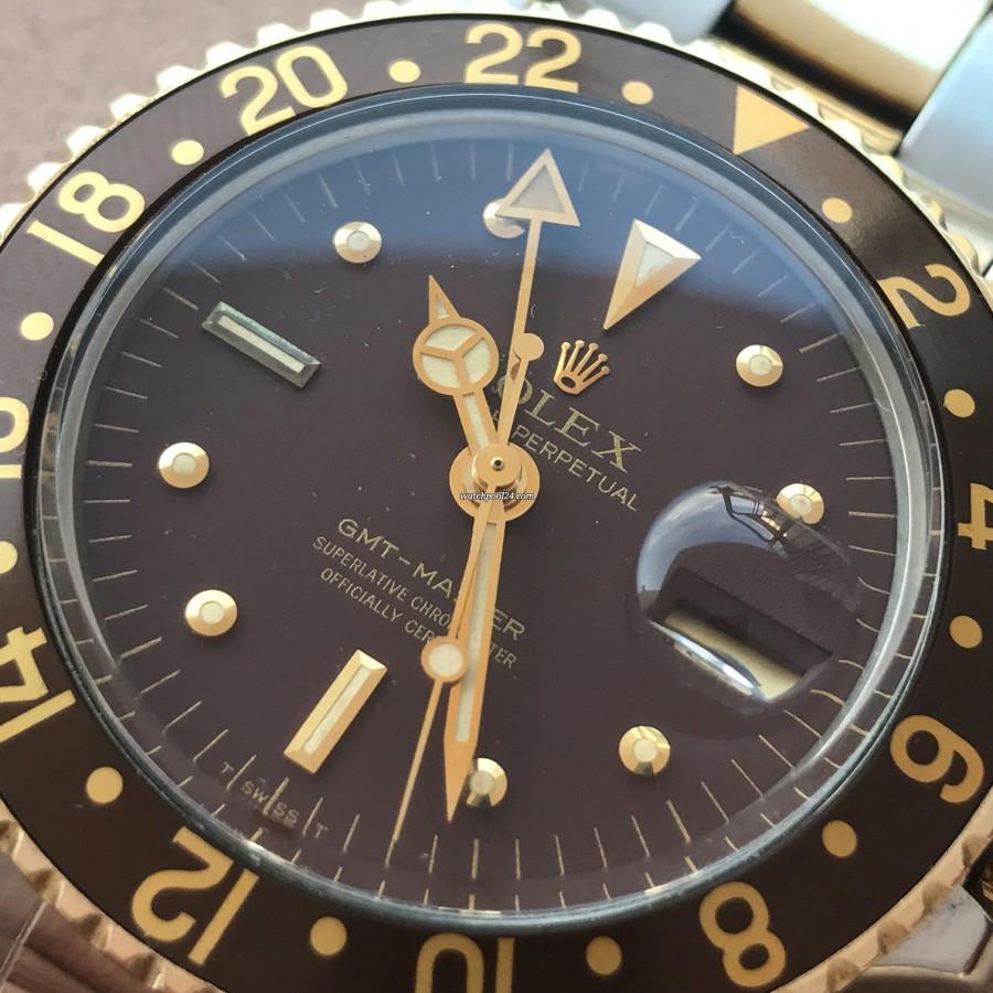 Rolex GMT Master 1675/3 Nipple Dial - matching creamy lume