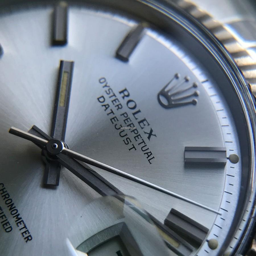 """Rolex Datejust 1601 - Wide Boy - """"White Boy"""" - breitere Stundenindexe"""