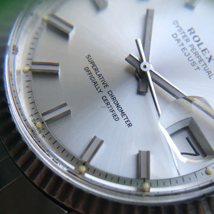 Rolex Datejust 1601 - Wide Boy - perfectly preserved original lume dots