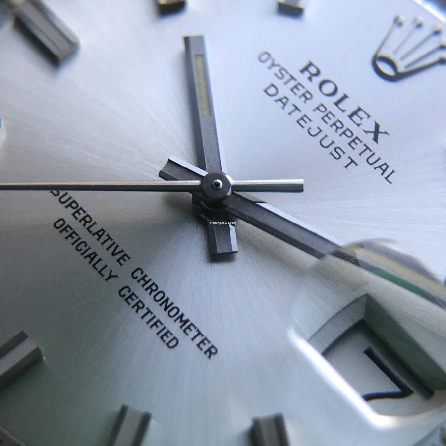 Rolex Datejust 1601 - Wide Boy - brushed silvered dial in untouched condition