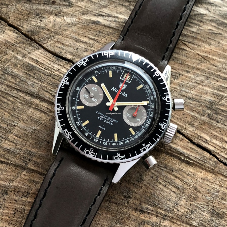 Nivada Chronoking Aviator Sea Diver - rare and cool vintage watch from the 60s