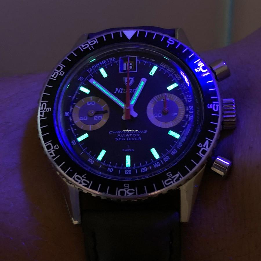 Nivada Chronoking Aviator Sea Diver - 100% originales Tritium Lume