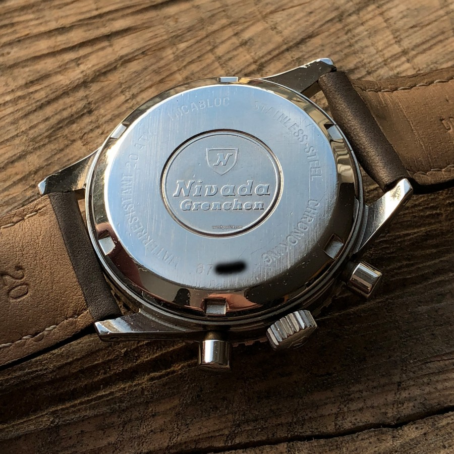 Nivada Chronoking Aviator Sea Diver - screw down case back in very good condition