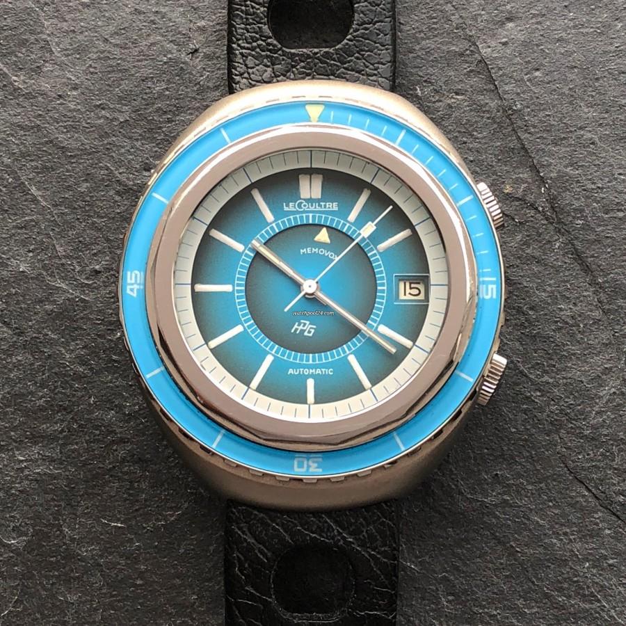 LeCoultre Memovox E 870 Polaris II - Fabulous azure blue bakelite bezel