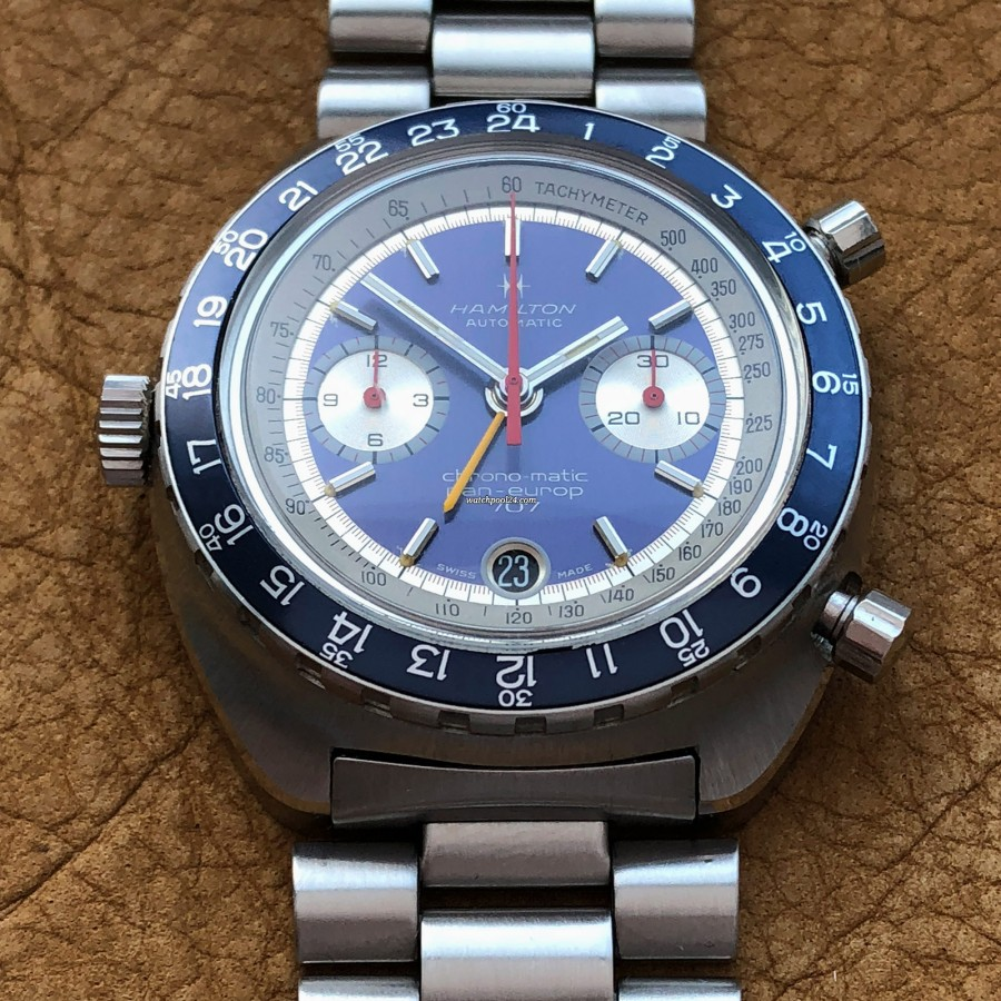 Hamilton Pan-Europ 707 111003-3 - automatic movement, chronograph, GMT, tachymeter, date - it's a Beast