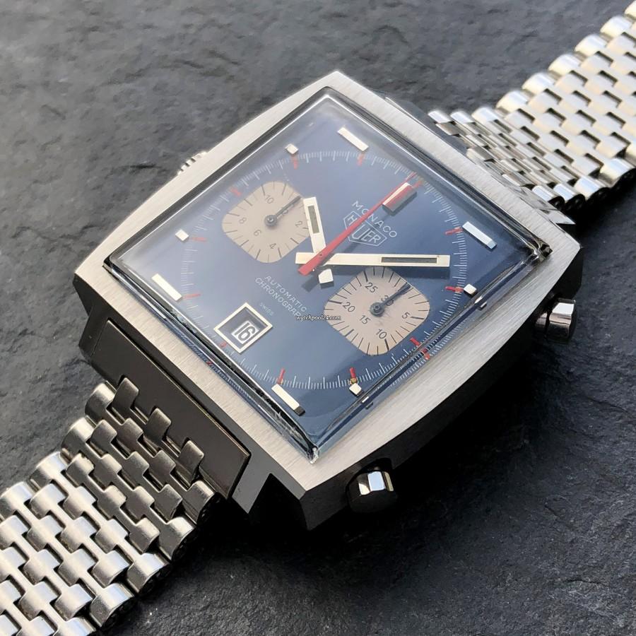 Heuer Monaco 1133B Transitional - rare 'Transitional' dial