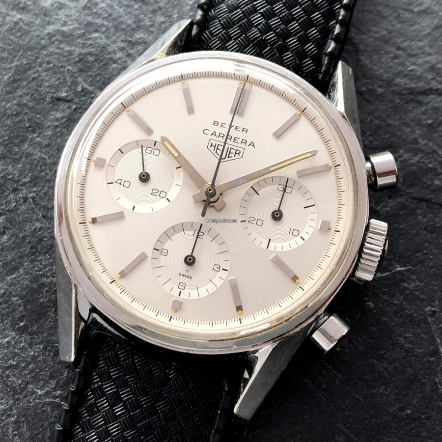 Heuer Carrera 2447 S - Beyer - rare chronograph with 'Beyer' lettering
