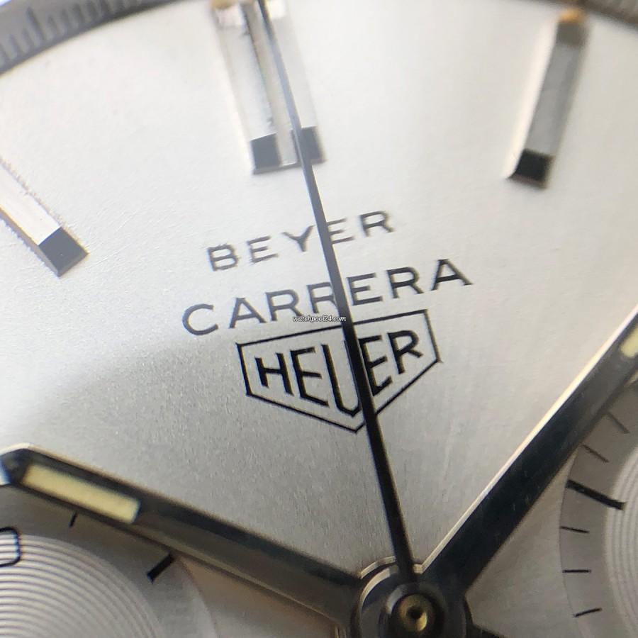 Heuer Carrera 2447 S - Beyer - Schweizer Retailer 'Beyer' auf dem Zifferblatt