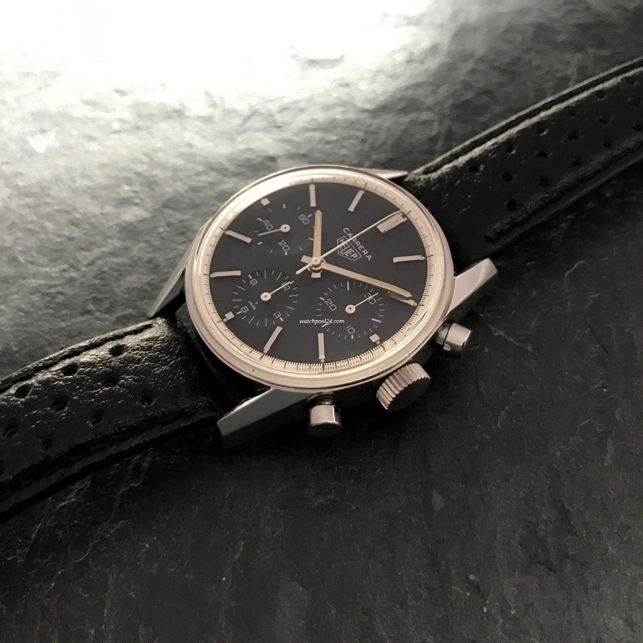 Heuer Carrera 2447 N - unpolished case