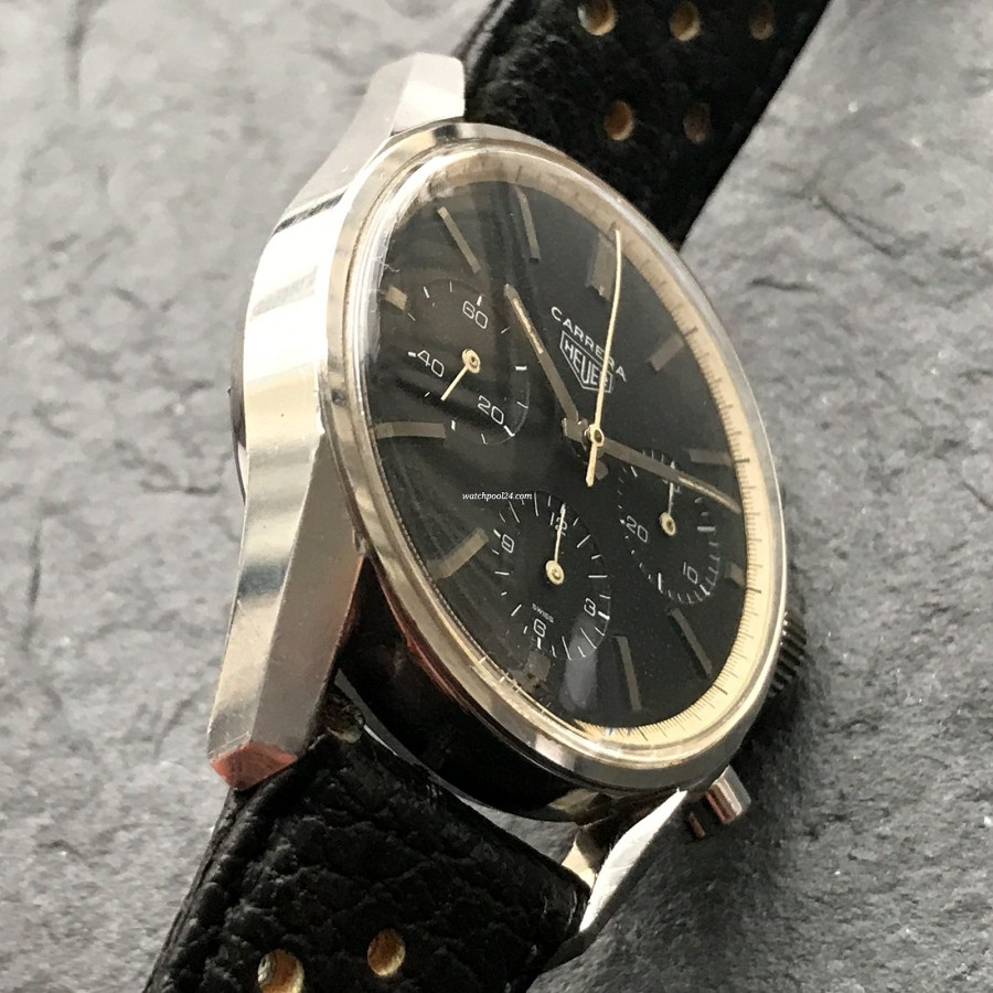 Heuer Carrera 2447 N - Early - unpolished case