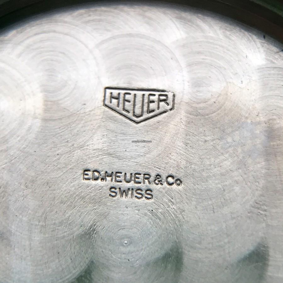 Heuer Carrera 2447 N - Early - Gehäuseboden signiert mit Ed.Heuer