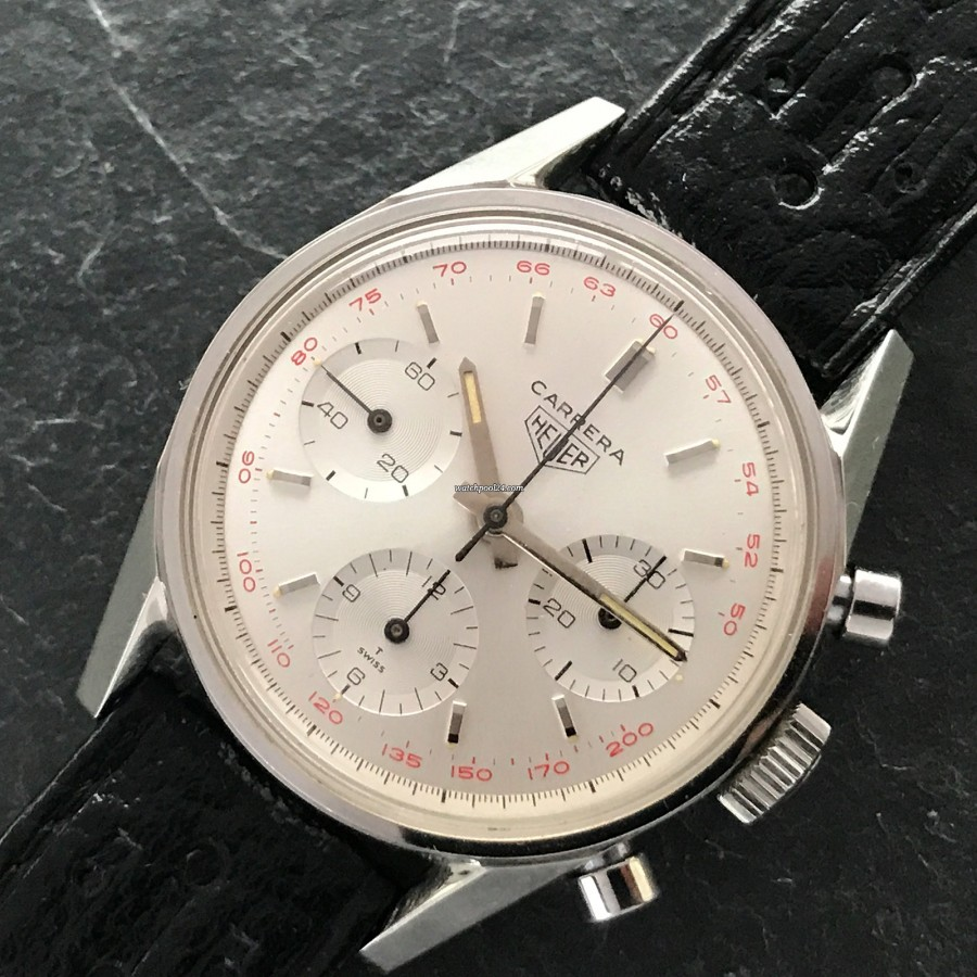 Heuer Carrera 2447 ST - NOS - piece of art designed by Jack Heuer