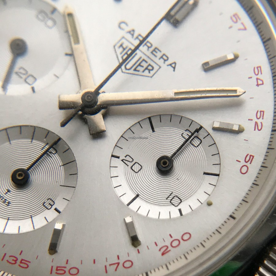 Heuer Carrera 2447 ST - NOS - absolutely clean sub dials