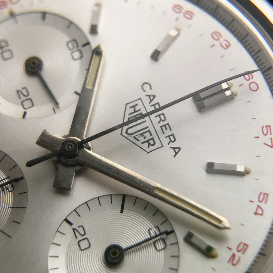 Heuer Carrera 2447 ST - NOS - matching color lume in dial and hands