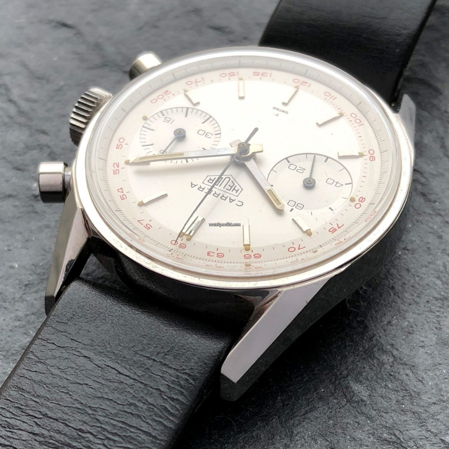 Heuer Carrera 3647 ST - NOS - this mint case is over 50 years old - simply impressive
