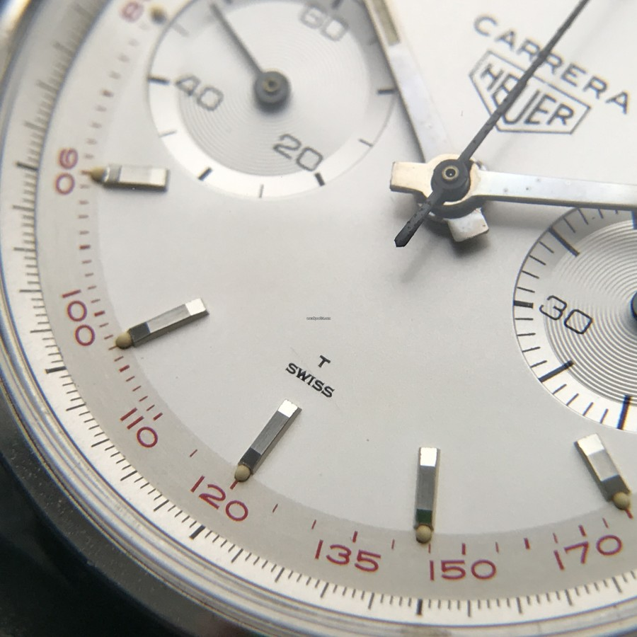 Heuer Carrera 3647 ST - NOS - 'T Swiss' lettering on the dial