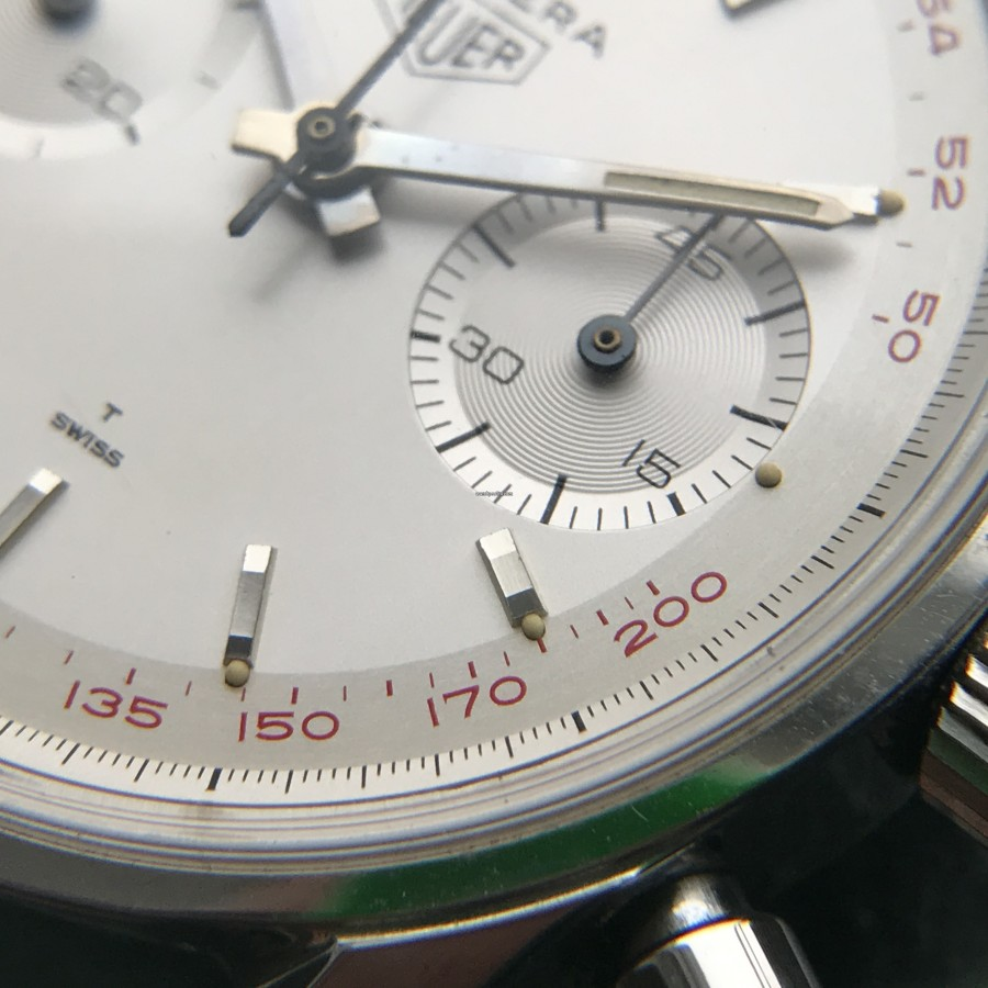 Heuer Carrera 3647 ST - NOS - lovely red tachy