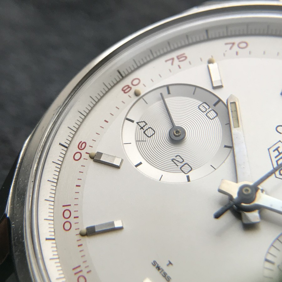Heuer Carrera 3647 ST - NOS - perfect creamy lume dots