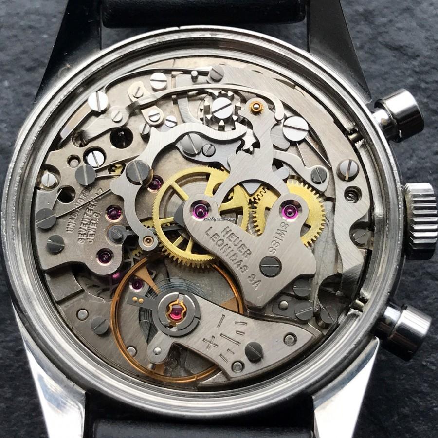 Heuer Carrera 3647 ST - NOS - Valjoux 92 Uhrwerk in exzellentem Zustand