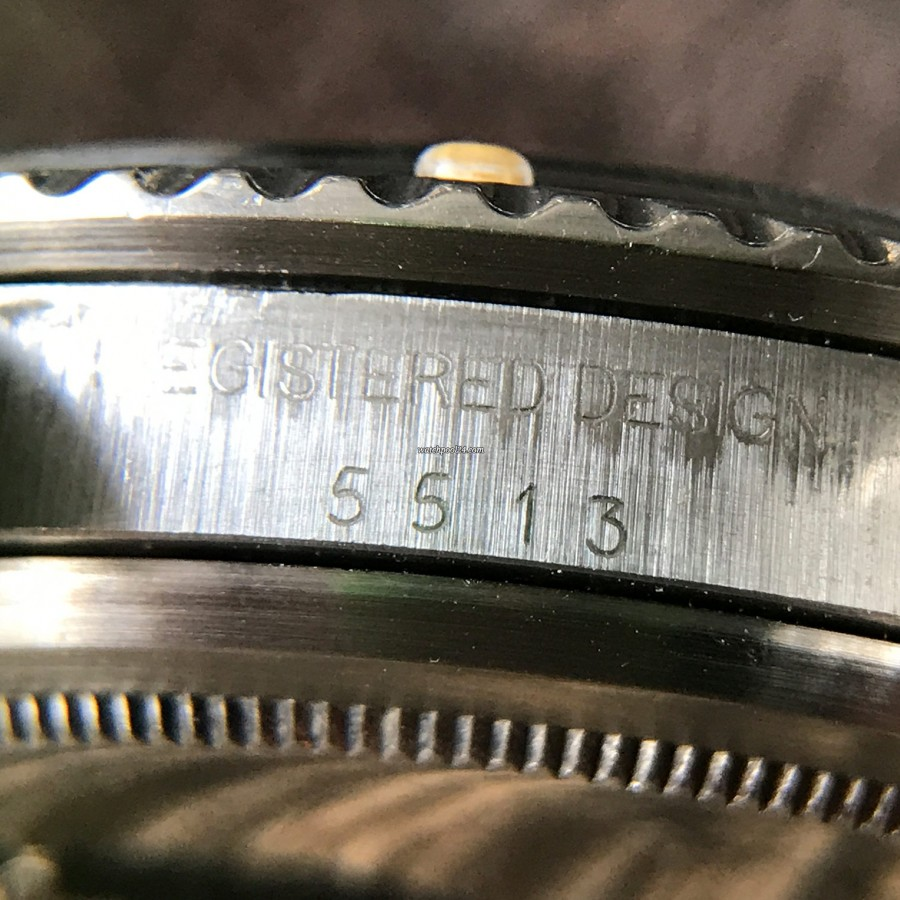 Rolex Submariner 5513 - Brown Patina - clearly visible reference number 5513