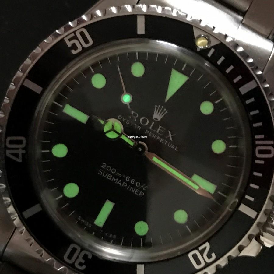 Rolex Submariner 5513 - Box and Papers - original tritium / zinc sulfid luminous shines until today