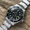 Rolex Submariner 5513 - Box and Papers - original greenish tritium lume