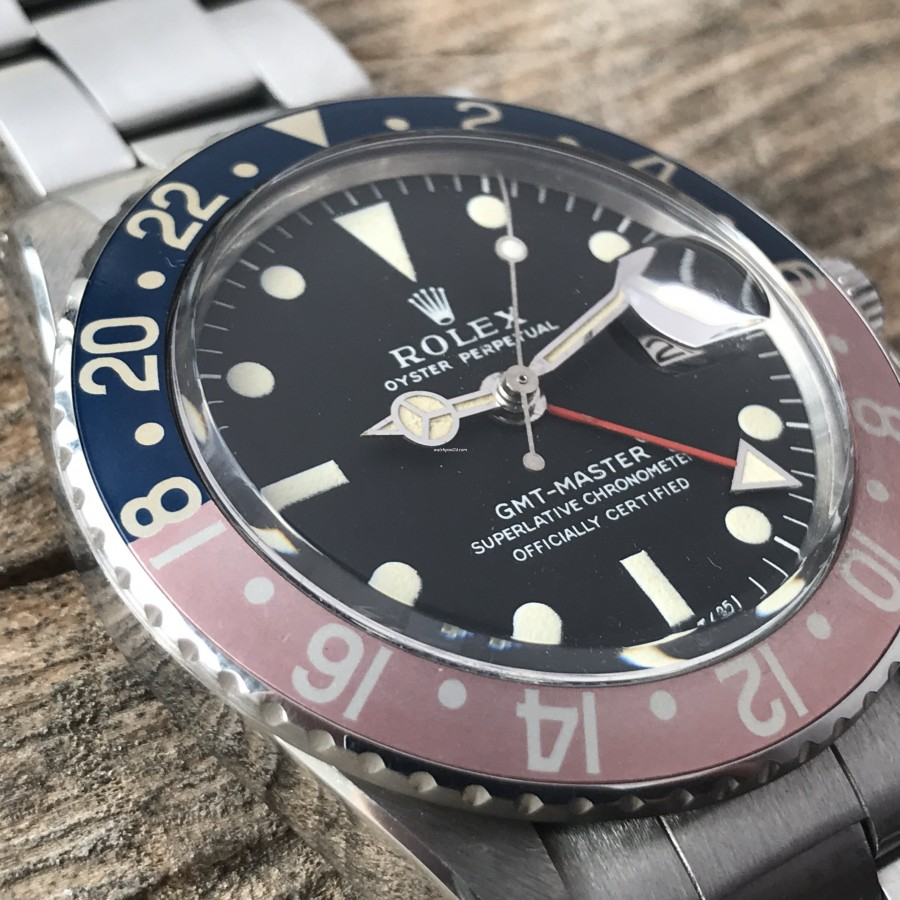 Rolex GMT Master 1675 MK1 Long E - Papers - fully intakt lume in hour markers and hands