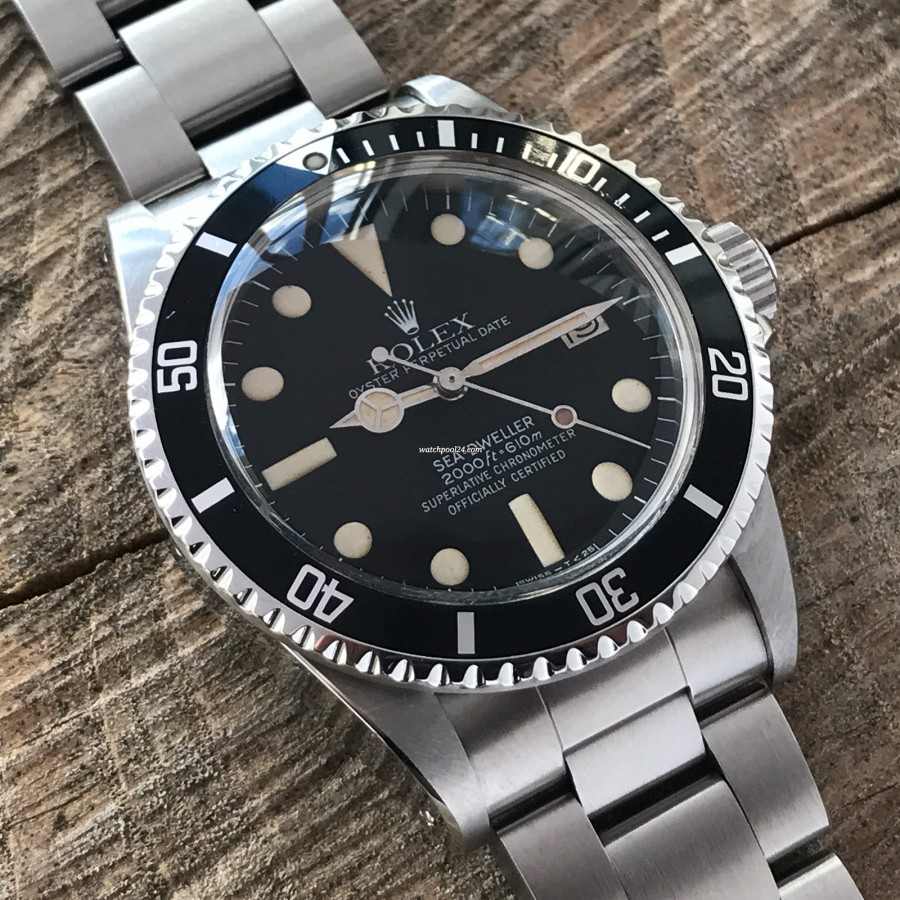 Rolex Sea-Dweller 1665 MK4 - matching patina color in hour markers and hands