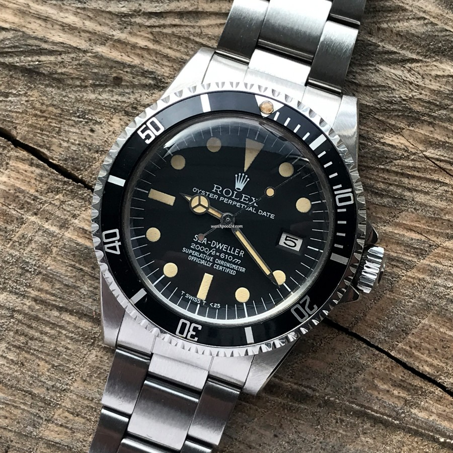 Rolex Sea-Dweller 1665 Rail Dial - Box and Papers - Rolex Sea-Dweller 1665 - historische und legendäre Taucheruhr