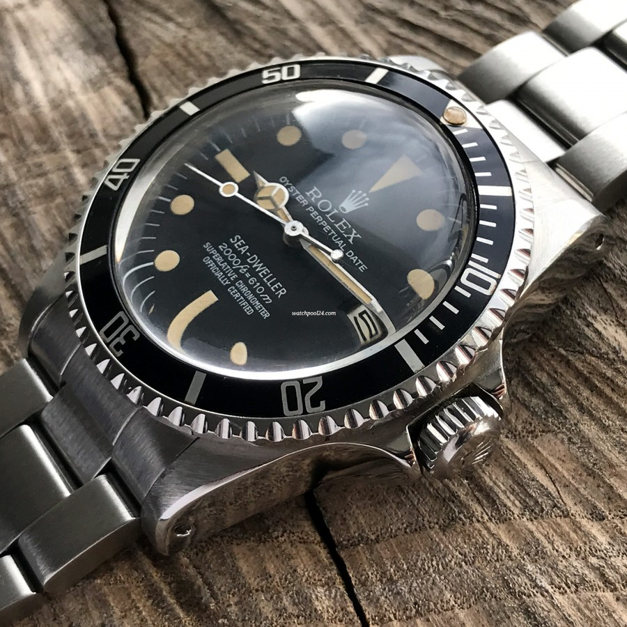 Rolex Sea-Dweller 1665 Rail Dial - Box and Papers - Rolex Oyster case in very good condition