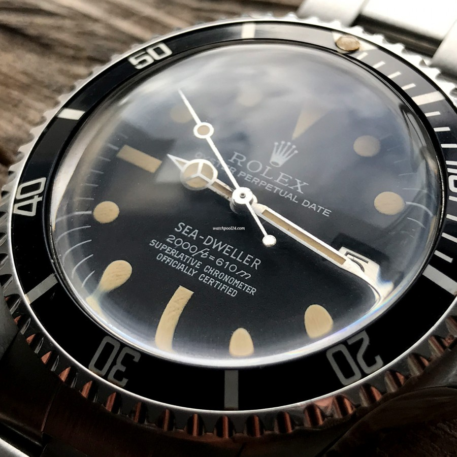 Rolex Sea-Dweller 1665 Rail Dial - Box and Papers - rare MK2 rail dial