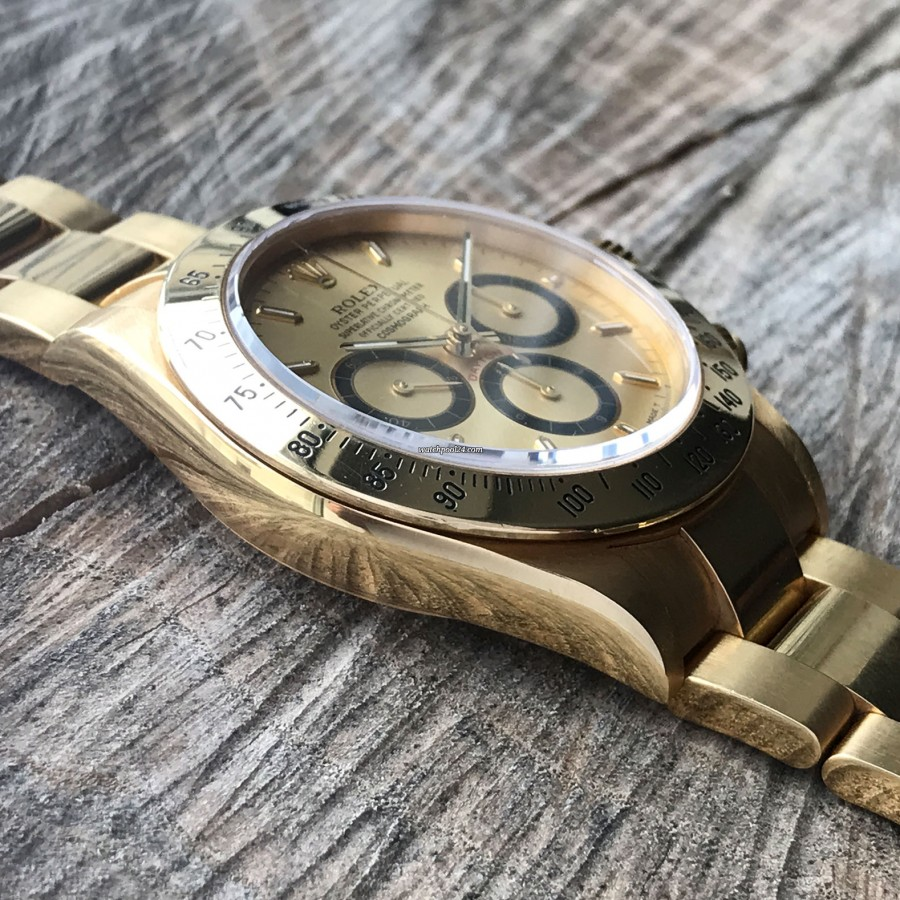 Rolex Daytona 16528 - Papers and Sticker - gold case in perfect condition