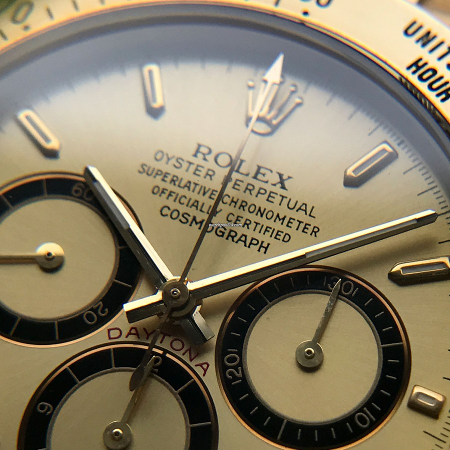 Rolex Daytona 16528 - Papers and Sticker - gold hands and red 'DAYTONA' inscription