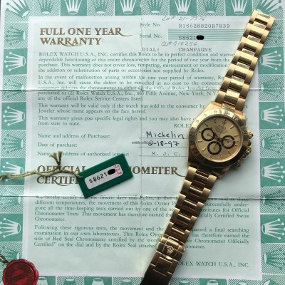 Rolex Daytona 16528 - Papers and Sticker