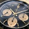 Rolex Daytona 6241 Jumbo Logo - black dial, gold sub dials, black acrylic bezel - pure harmony