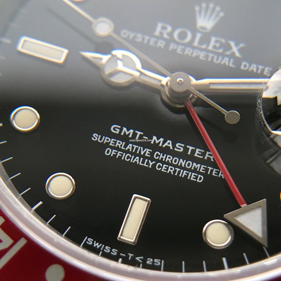 Rolex GMT Master 16700 Pepsi Bezel - wunderschön cremiges Lume