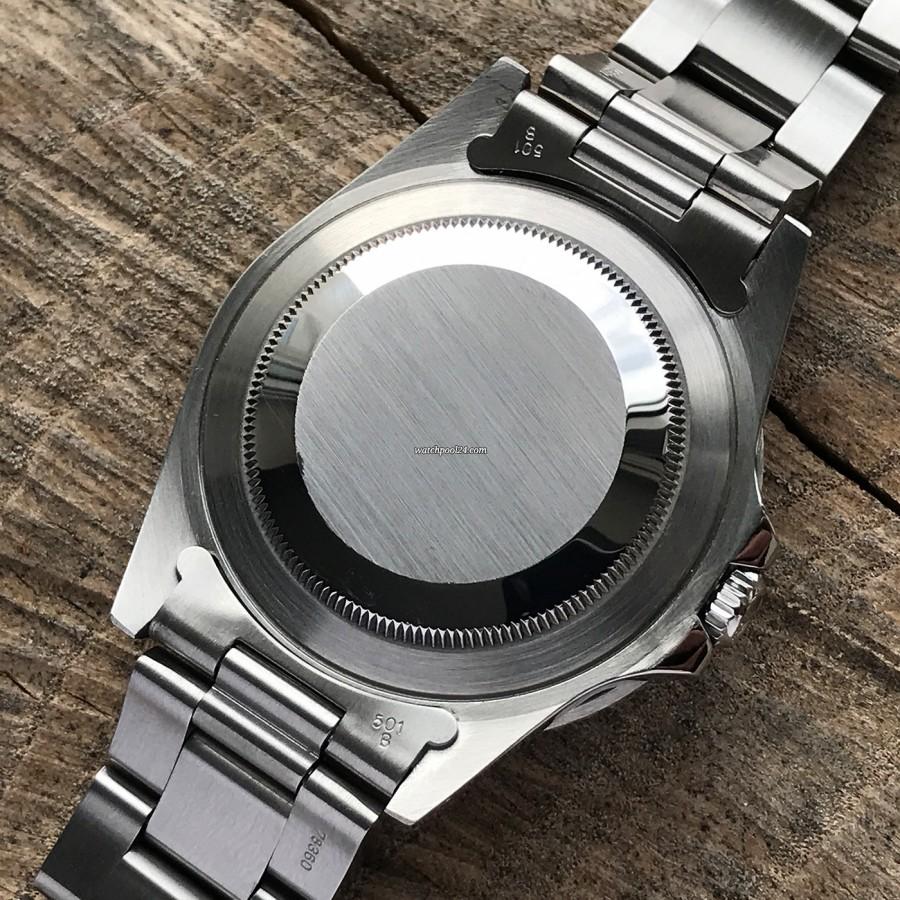 Rolex GMT Master 16700 Pepsi Bezel - Armband mit 581B Endlinks und verschraubter  Boden