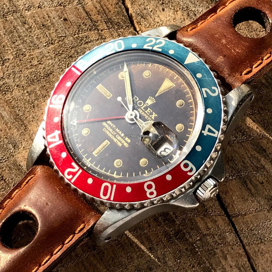 Rolex GMT Master 1675 Tropical OCC Full Set - faded pepsi bezel