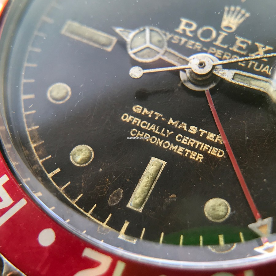 Rolex GMT Master 1675 Tropical OCC Full Set - little chip at 6 o'clock