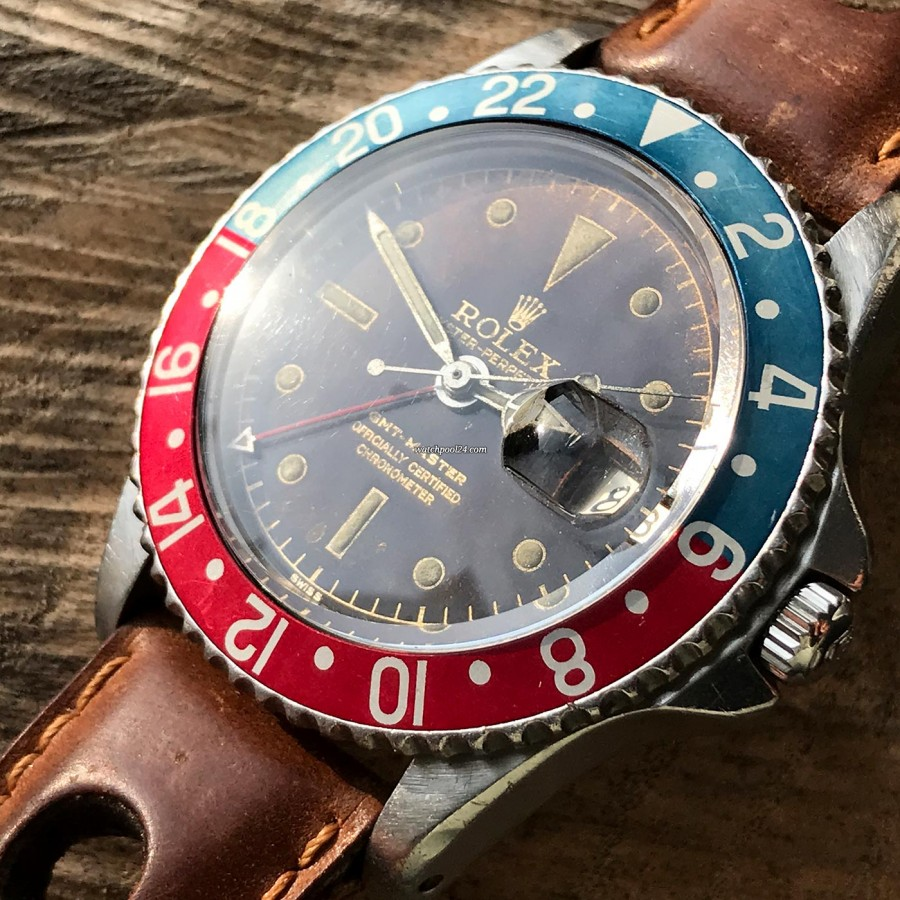 Rolex GMT Master 1675 Tropical OCC Full Set