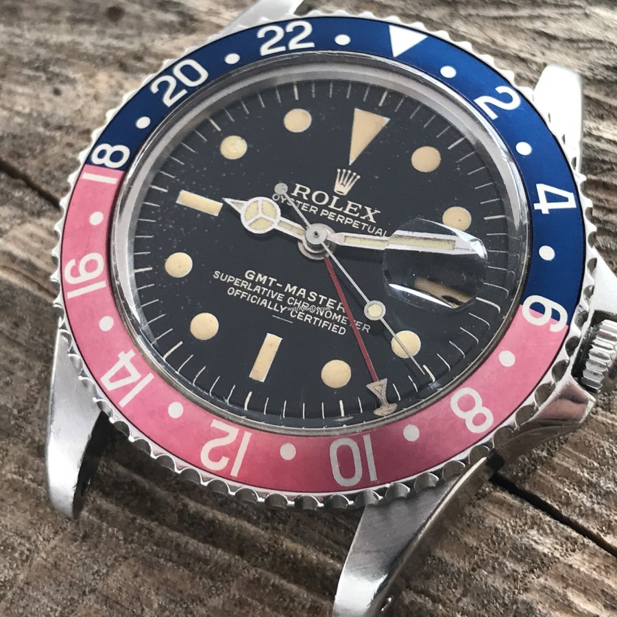 Rolex GMT Master 1675 Underline - Radial Dial - faded pepsi bezel