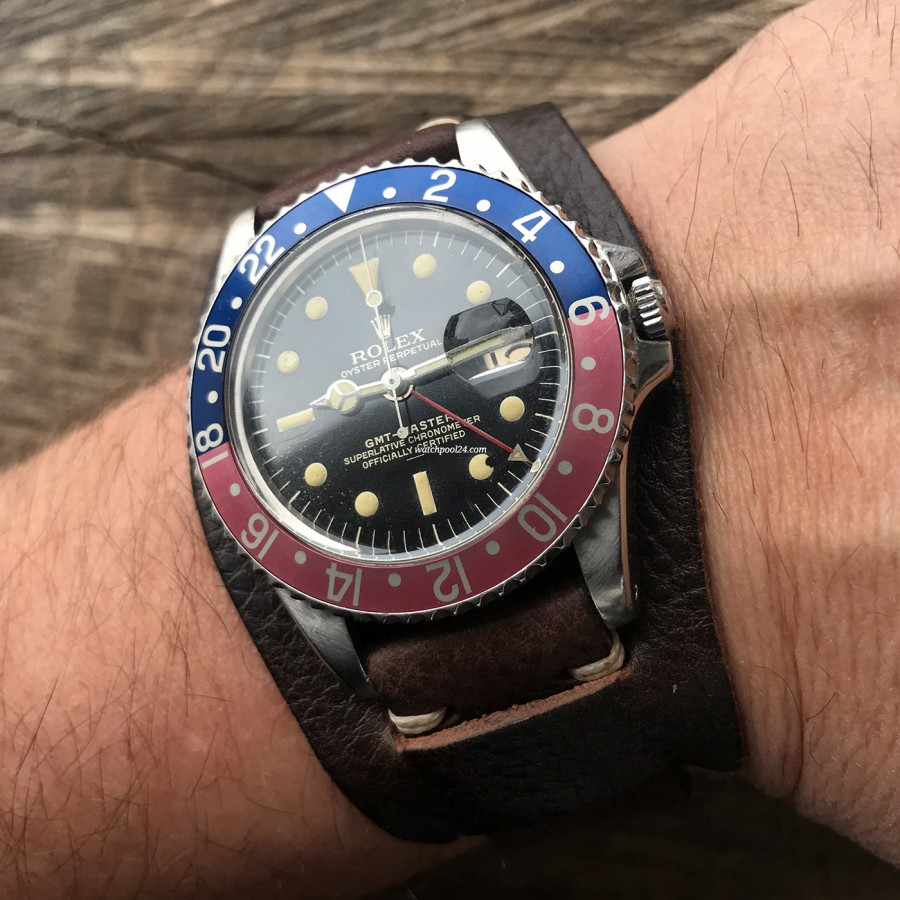 Rolex GMT Master 1675 Underline - Radial Dial - looks beautiful on the wrist