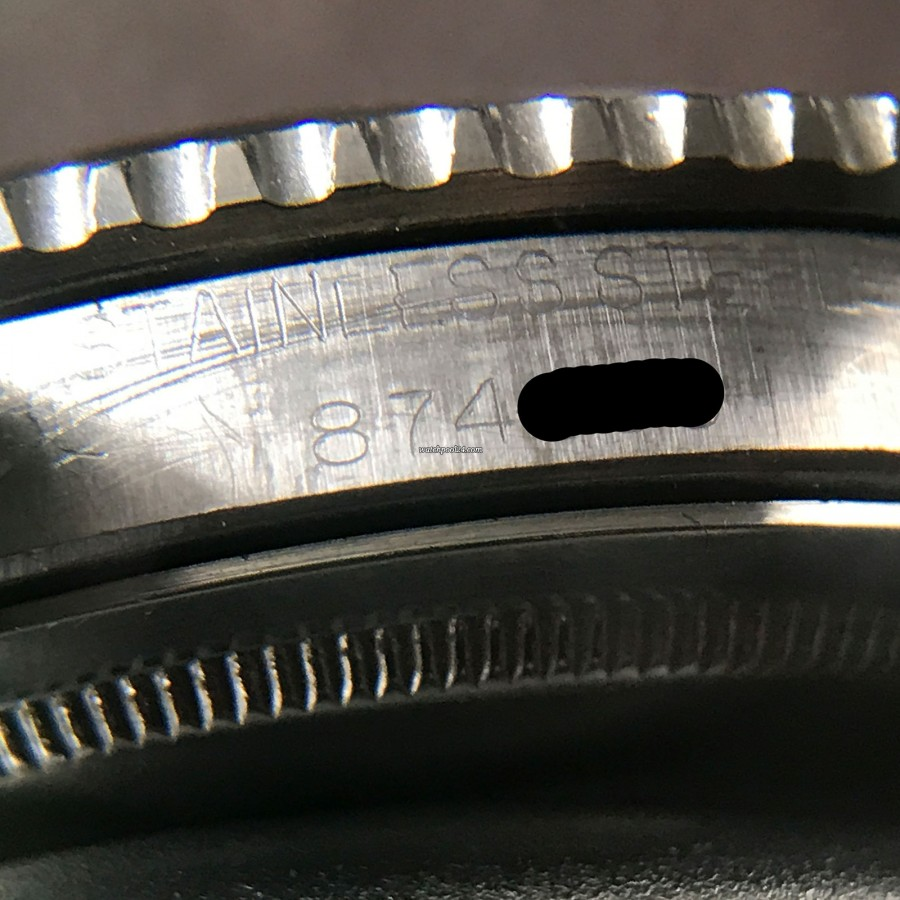 Rolex GMT Master 1675 Underline - Radial Dial - Rolex serial number 874XXX between the lugs