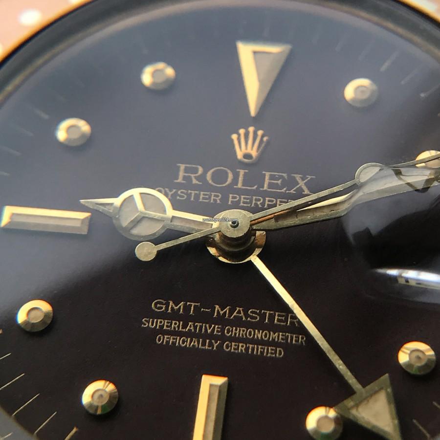 Rolex GMT Master 1675/8 Root Beer Nipple Dial - cremige Leuchtmasse in Zeigern und Stundenmarkern stimmen überein