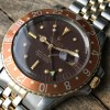 Rolex GMT Master 1675/3 Nipple Dial - brown dial - gold-framed markers and hands - brown bezel - creamy lume