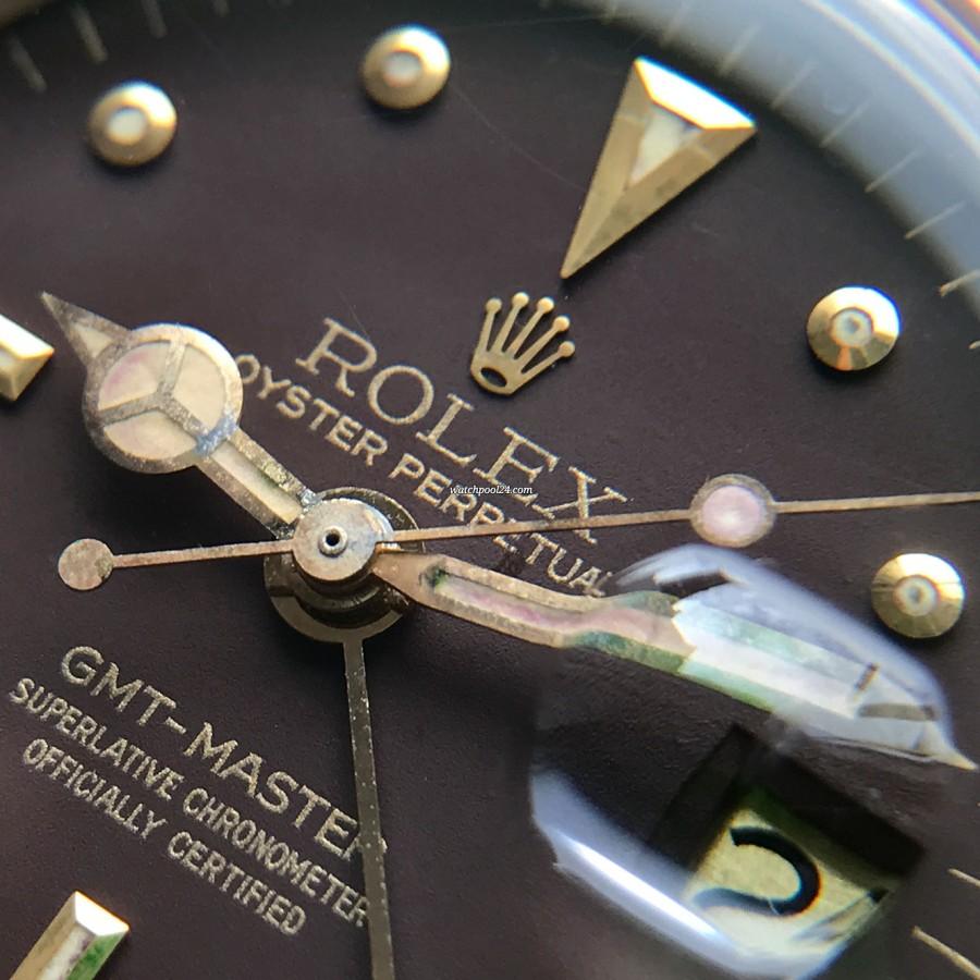 Rolex GMT Master 1675/3 Nipple Dial - golden lettering, gold Rolex crown, Mercedes hand, lollipop hand